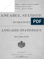 Anuarul statistic al României, 1912