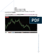 Eow Friday 25 7 2014 Eurusd Usdchf Gbpjpy Nifty Dowjones Crude Mt4 Charts