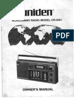 Uniden CR2021 Owner Manual