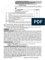 PG Admission Notification 2014