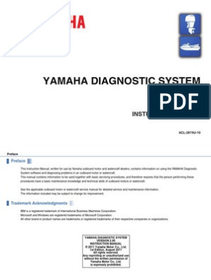 Manual Yamaha Outboard Diagnostics(YDIS-Ver2.00 ... on