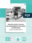Modern Water Control and Management Practices in Irrigation Impact on Performance