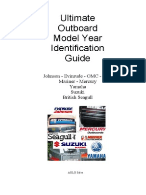 Ultimate Outboard Model Year Identification Guide
