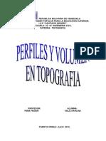 KARLINA Topografia Los Perfiles y Volumen