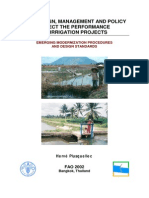 How Design, Management and Policy Affect the Performance of Irrigation Projects
