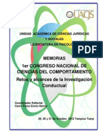 Memorias Investigación Científica UACJS 2012