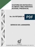 Bases de Convocatoria Servicio Lavanderia