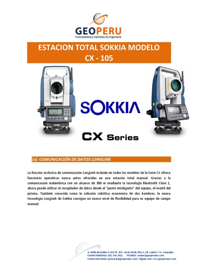 Estacion Total Sokkia Modelo CX-105