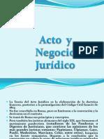 Acto Jurídico y Negocio Jurídico