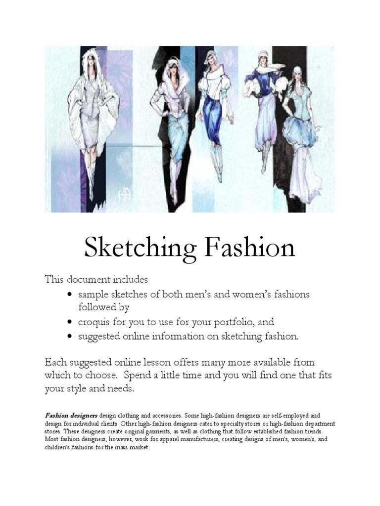 2013 Fashion Designer S Choice Sketching Fashion Design Drawing