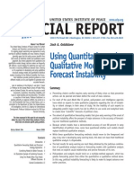 Qualitiative and Quantitative Methods of Predicting Social Instability by Jack A Goldstone