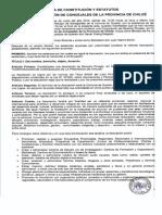 Acta y Estatutos Cor. de Concejales de Chiloé