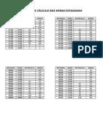 Tabelas de Cálculo Das Horas Estagiadas