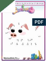 Unir Puntos Cerdo 1 20 Join Dots Pig