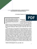 El Acoso Psicológico en El Lugar de Trabajo (D. González & S. Delgado)