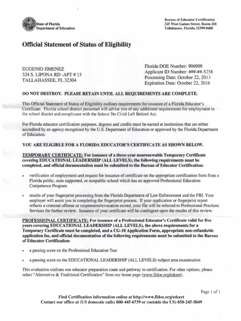 Dr eugenio jimenez statements of eligibility english as a second dr eugenio jimenez statements of eligibility english as a second or foreign language fingerprint xflitez Image collections