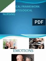 Theoretical Framework on Gerontological Nursing
