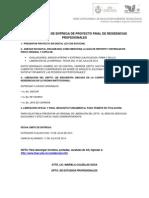 Caracteristicas de Entrega Del Proyecto y Documentos Finales de Residencias Profesionales