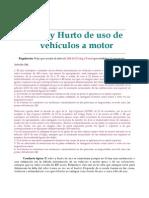 Robo y Hurto de Uso de Vehculos a Motor