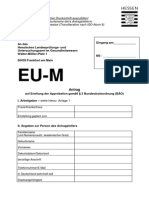 EU Approbationsantrag