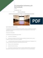 Constitución de Compañías Anónimas y de Responsabilidad Limitada