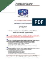 Exercícios de Fixação Pós Aula Princípios Tributários II - Legalidade, Reserva Legal e Justiça Fis