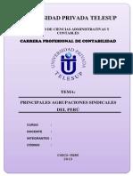 Monografia de Principales Agrupaciones Sindicales Del Perú