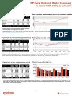 Weekend Market Summary Week Ending 2014 July 20