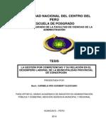 Tesis Posgrado Administración - La Gestión Por Competencias y Su Relación en El Desempeño Laboral de La Municipalidad Provincial de Concepción