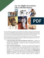 Cultura Religiosa as Religiões de Matrizes Africanas Tirando as Dúvidas