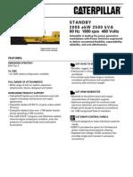 Caterpillar 3516C Genset Specification Sheets