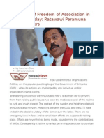 Relevance of Freedom of Association in 1992 and Today Ratawawi Peramuna and Its Players