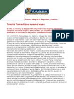 com0821 060806 Tendrá Tamaulipas nuevas leyes