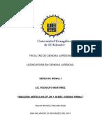 Articulos CP Trabajo Penal 27022014
