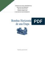 Trabajo de Bombas Horizontales