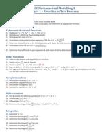 Worksheet 1 Questions