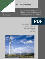 Requerimientos de Operación de Parques Eólicos