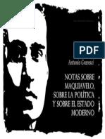 Antonio Gramsci Notas Sobre Maquiavelo Sobre La Politica y Sobre El Estado Moderno