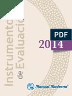 Instrumentos de Evaluacion Catalogo 2014