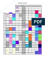 master time table color