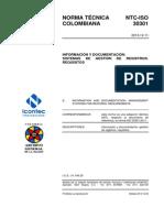 Ntc-Iso30301- Información y Documentación. Sistemas de Gestión de Registr
