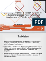 E-learning system as a support resource for educational process improvement and development of IT Clubs in universities.