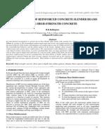 Shear Behavior of Reinforced Concrete Slender Beams