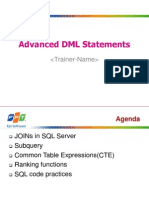 Lesson01_Advanced DML Statements