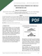 Study on Shear Strength Characteristics of Coir Mat Reinforced Sand