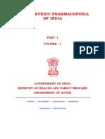 Ayurvedic pharmacopoeia of India-all volume