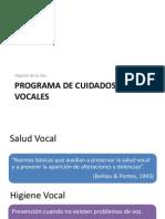 Programa de Cuidados Vocales