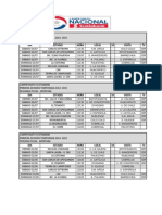 Fixture Chile Campeonato Nacional 2014 Apertura