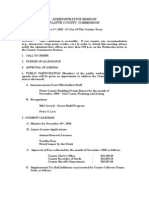 Administrative Session Platte County Commission