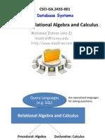 Relational Algebra and Calculas